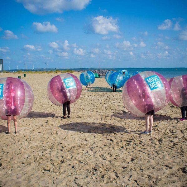 Bumperball vrijgezellenfeest Zeeland