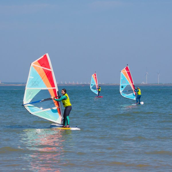 Windsurfles groep